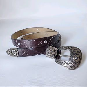 Nine West Vintage Studded Leather Belt